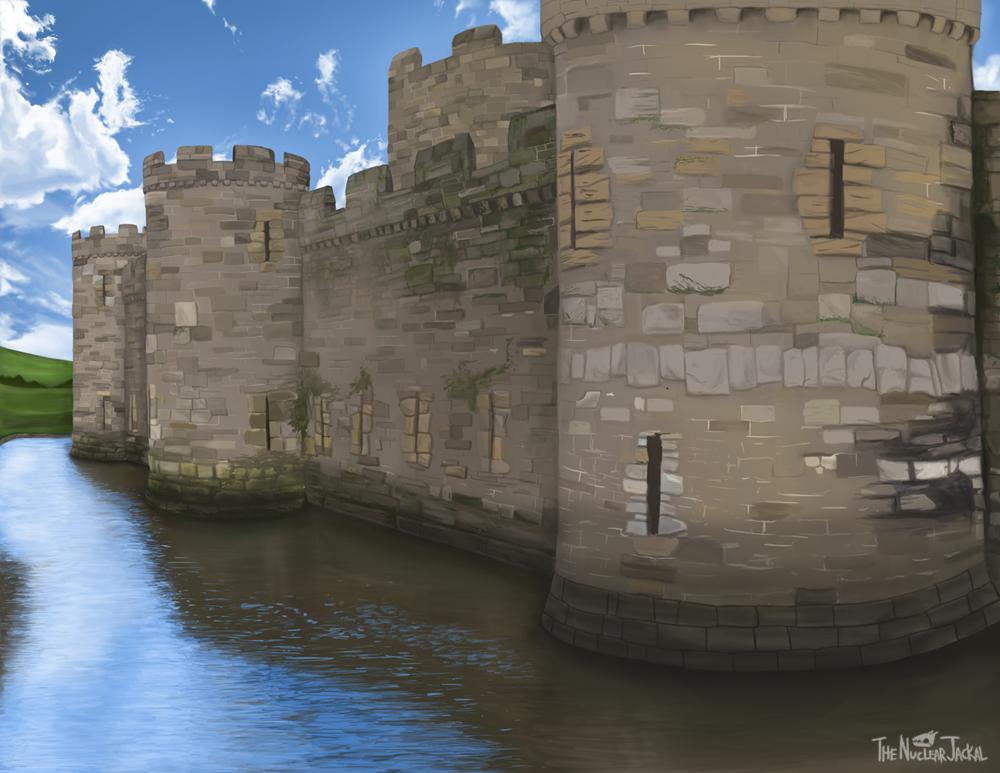 Beaumaris Castle by NuclearJackal
