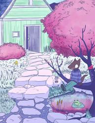 Relaxing in the garden by NuclearJackal