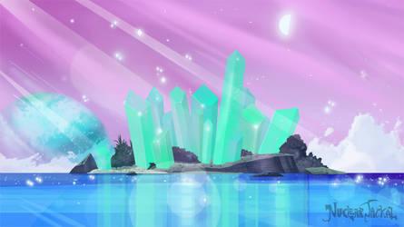 Crystal Column Island by NuclearJackal