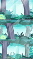 Forest Backgrounds (based on Steven Universe) by NuclearJackal