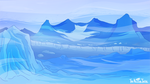Icy Mountain by NuclearJackal