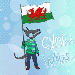 NJ with Welsh Flag by NuclearJackal