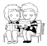 Luke and Leena Birthday doodle by NuclearJackal
