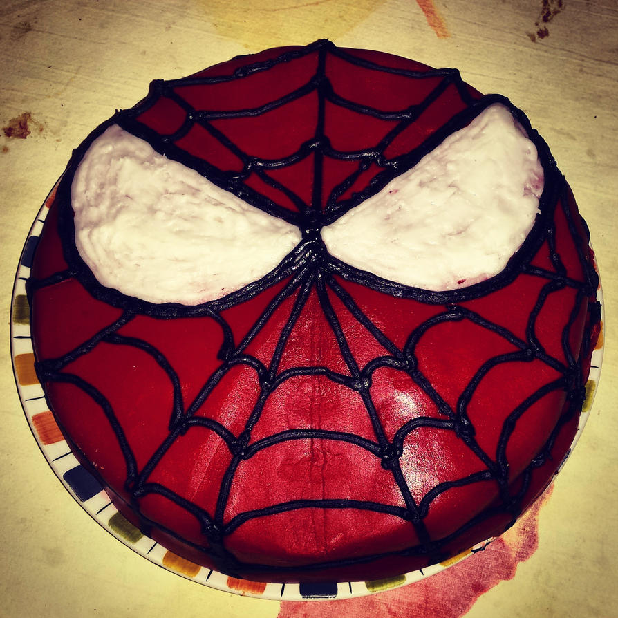 Spiderman Birthday Cake by dimebagsdarrell