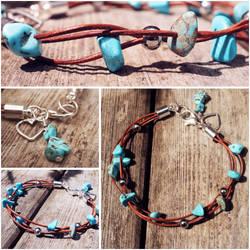 For Sale - Handmade Turquoise Bracelet by dimebagsdarrell