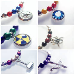 Avengers Inspired Bracelet Set by dimebagsdarrell