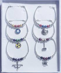 Avengers Inspired Bracelet Gift Set by dimebagsdarrell