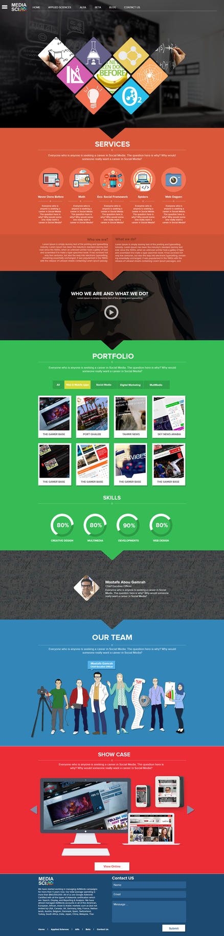 New Media-sci Website by MrAtef