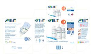 Philips Avent Bottle packaging