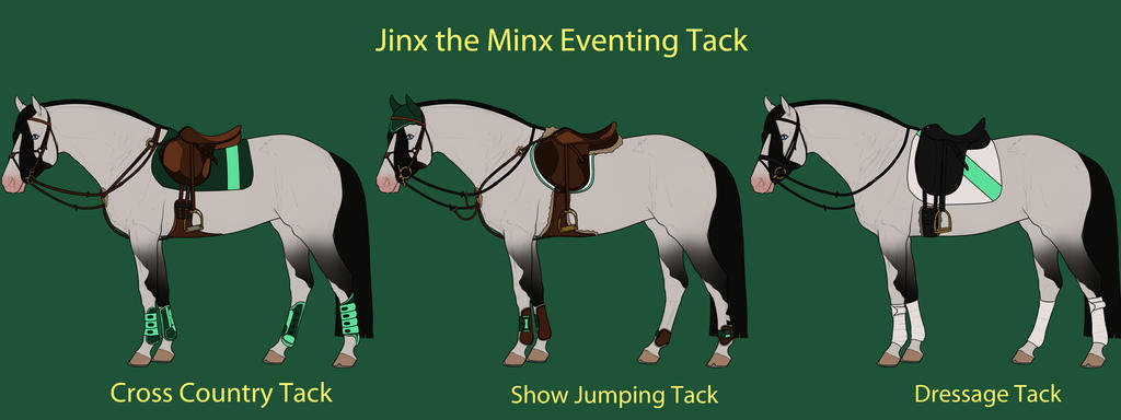 Jinx the Minx Eventing Tack by cheddarbug