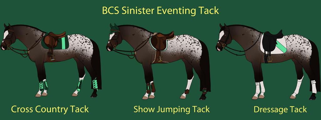 Sinister Eventing Tack by cheddarbug
