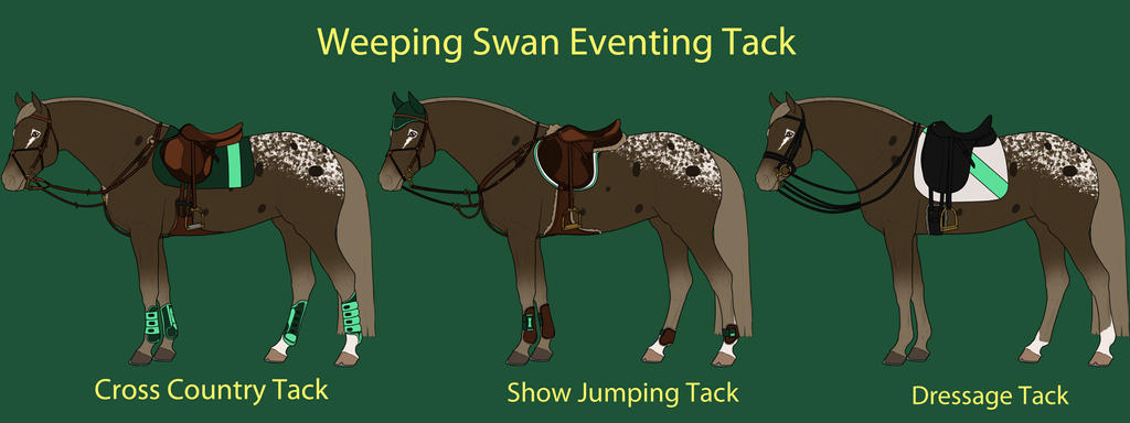 Weeping Swan Eventing Tack by cheddarbug
