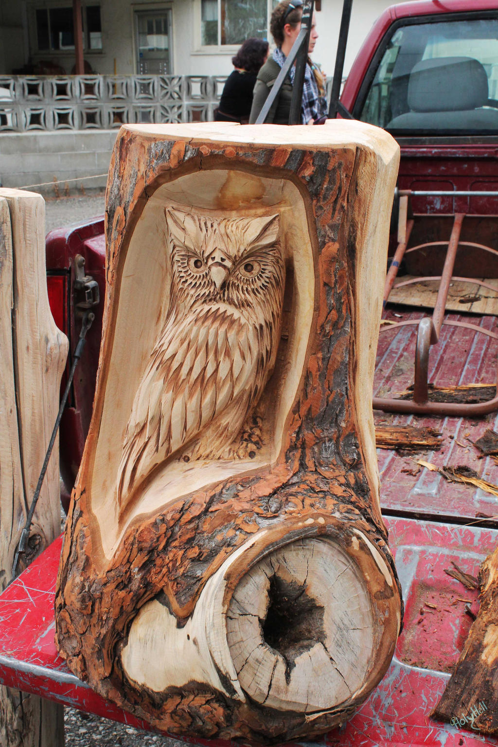 Owl wood carving by chainsaw m carvings on deviantart