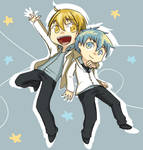 Kuroko and Kise_Jump