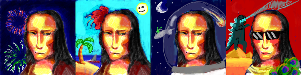 Mona Lisa On Vacation by Brokenfangs