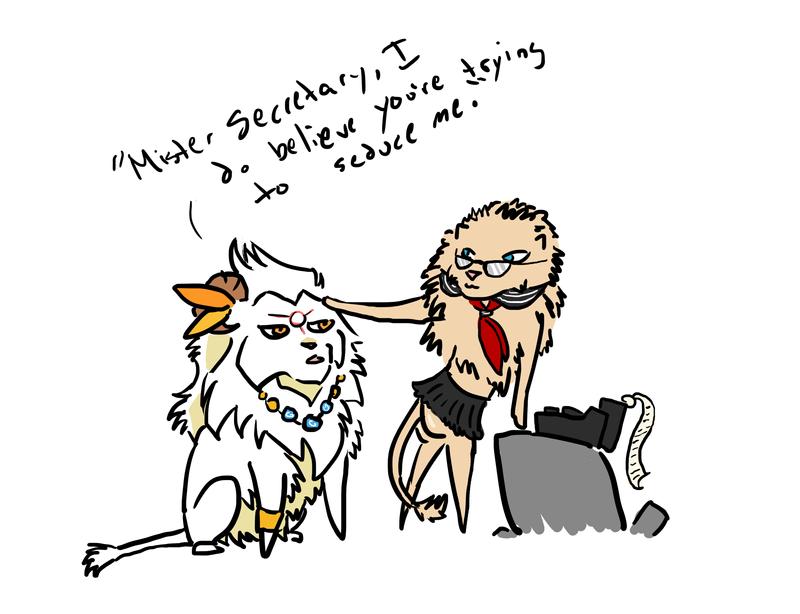 Sabetook and Mister Secretary by Brokenfangs