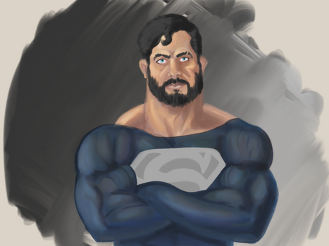 Bearded Superman Painted by Figgs45