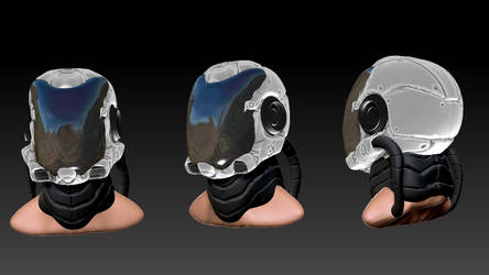Space Helmet in Zbrush by Figgs45