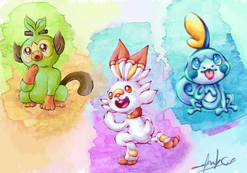 New Pokemons of the 8th Generation by melani2002