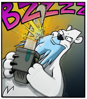 SHAVING LEVEL: BEARTIC by TricksyWizard