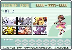 trainer card of Ms.Z by bassmegapokemonlover