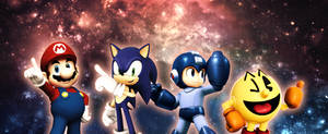 Epicness: Mario, Sonic, Mega Man, AND Pac-Man! by ST3PH3NART