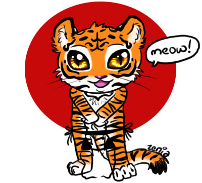 Cute Chibi Tiger Chibi Tiger by Zenia