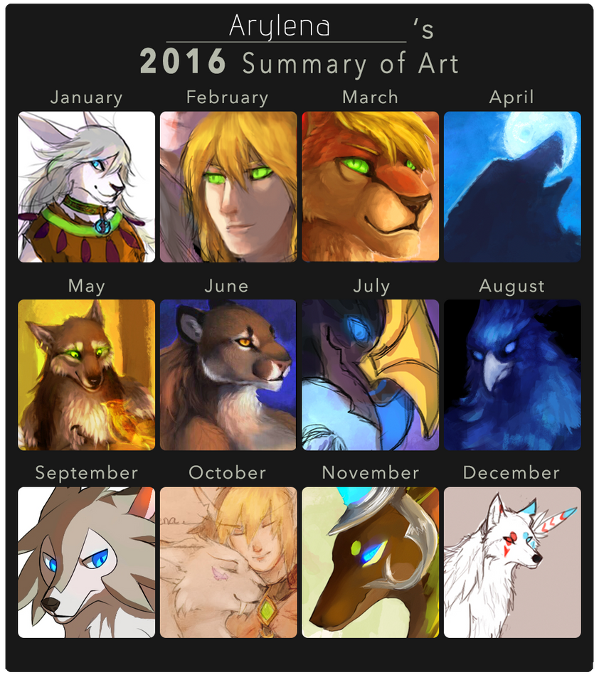 2016 Summary of Art by Arylena