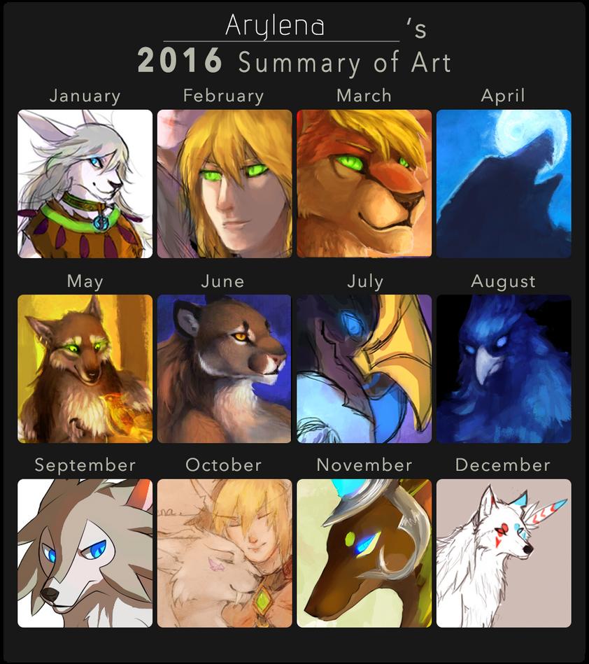 2016 Summary of Art by Arylena