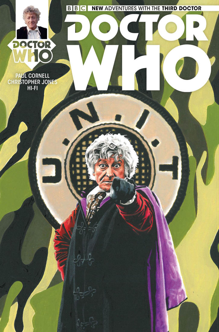 NEW ADVENTURES WITH THE THIRD DOCTOR variant cover by Herbarianband