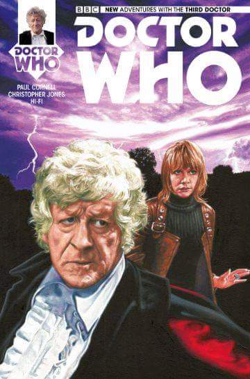 NEW ADVENTURES WITH THE 3RD DOCTOR #4 COVER ART by Herbarianband