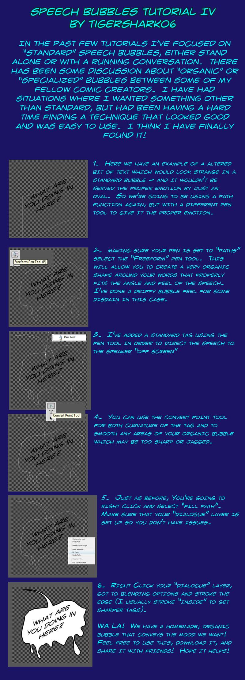 Speech Bubbles Tutorial IV by Tigershark06