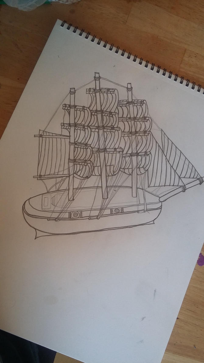 First ever ship drawing by doonlet