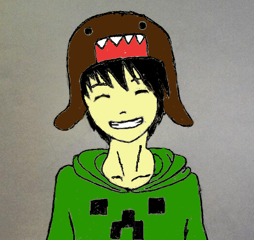 Anime Boy With Domo Beanie And Minecraft Shirt By Kats1230 On Deviantart