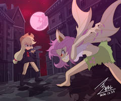 MLP Apple jack VS Flutter bat by 0Bluse