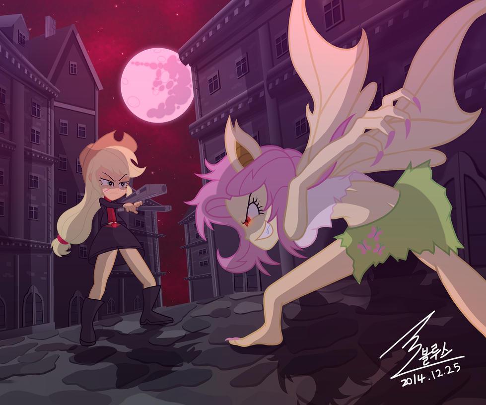 mlp_apple_jack_vs_flutter_bat_by_0bluse-