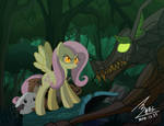 MLP Fluttershy vs Timber Wolf by 0Bluse