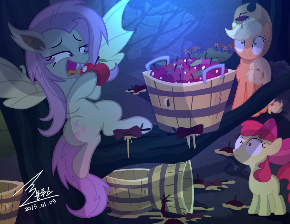 Mlp Apple Thief By 0bluse On Deviantart