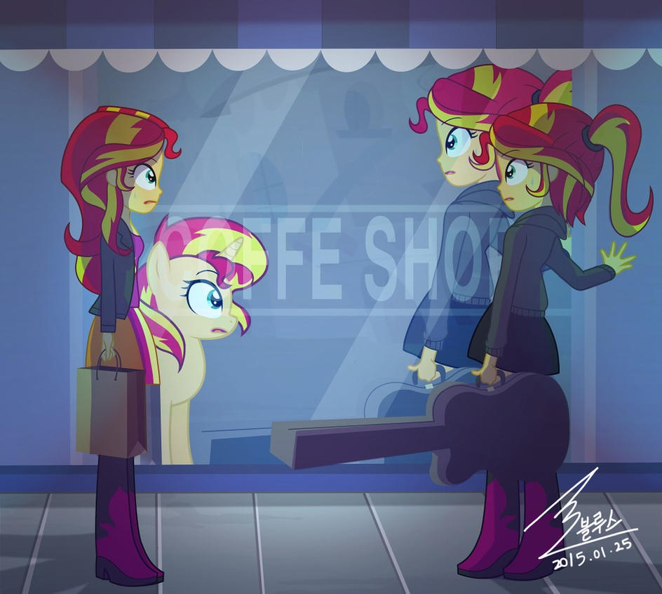 Mlp Sunset Shimmer And Sunset Shimmer By 0bluse On Deviantart