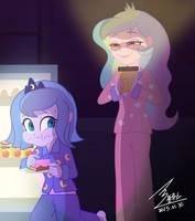 MLP Secretly eating cake by 0Bluse