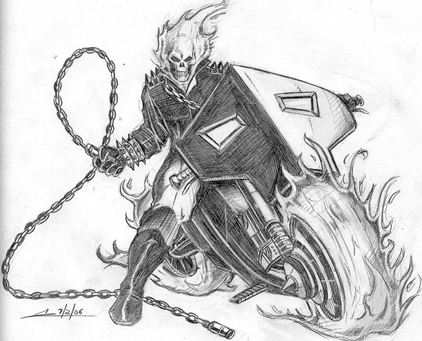 My drawing of Ghost rider by zeketheripper on DeviantArt