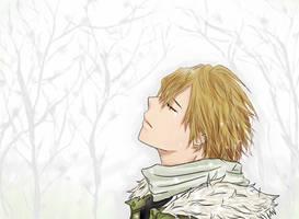 Kagamine Len_snow by I2ADHS