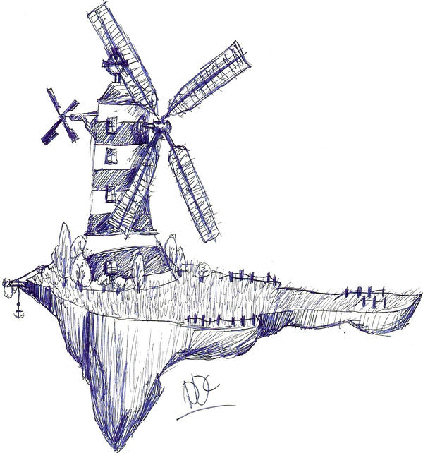 Windmill sketch by DemonDaysChild on DeviantArt