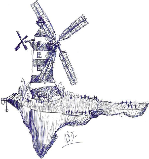 Windmill sketch by DemonDaysChild on DeviantArt