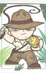 Chibi-Indiana Jones Sketchcard