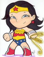 Chibi-Wonder Woman 2. by hedbonstudios