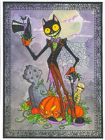 Halloween Cat. by hedbonstudios