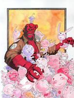 Hellboy vs. Cute.