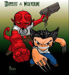 Chibi-Hellboy and Woverine 2.