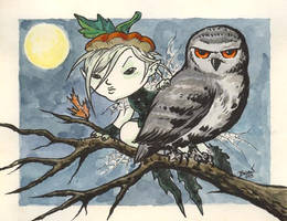 The Faerie and the Owl. by hedbonstudios
